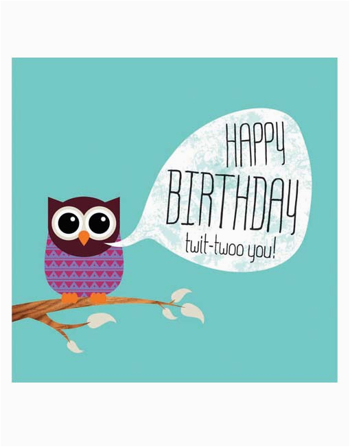the gallery for gt owl happy birthday card