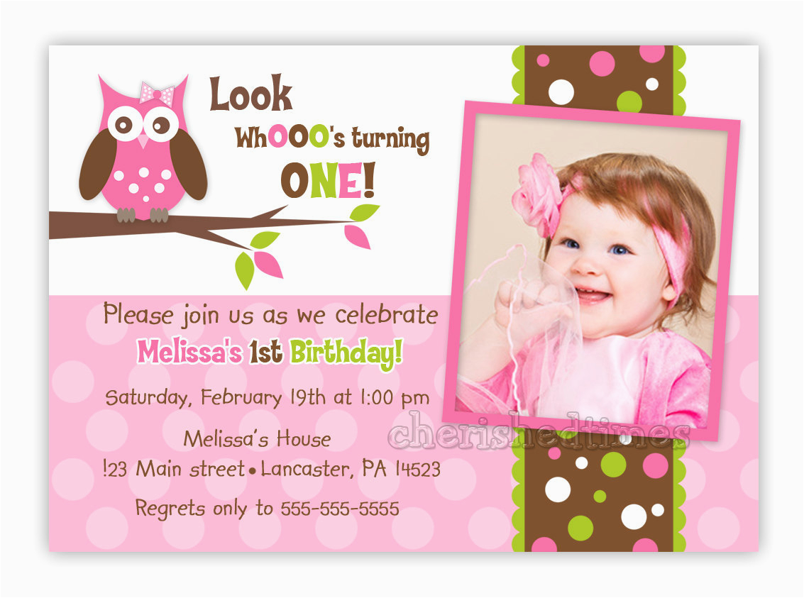 custom owl birthday or baby shower