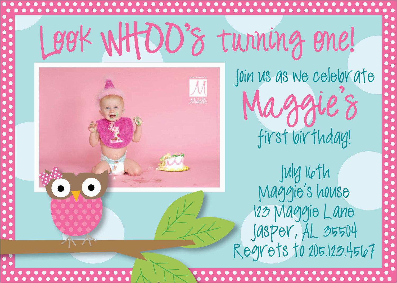 Owl Birthday Party Invites 1st Invitations Ideas Bagvania Free