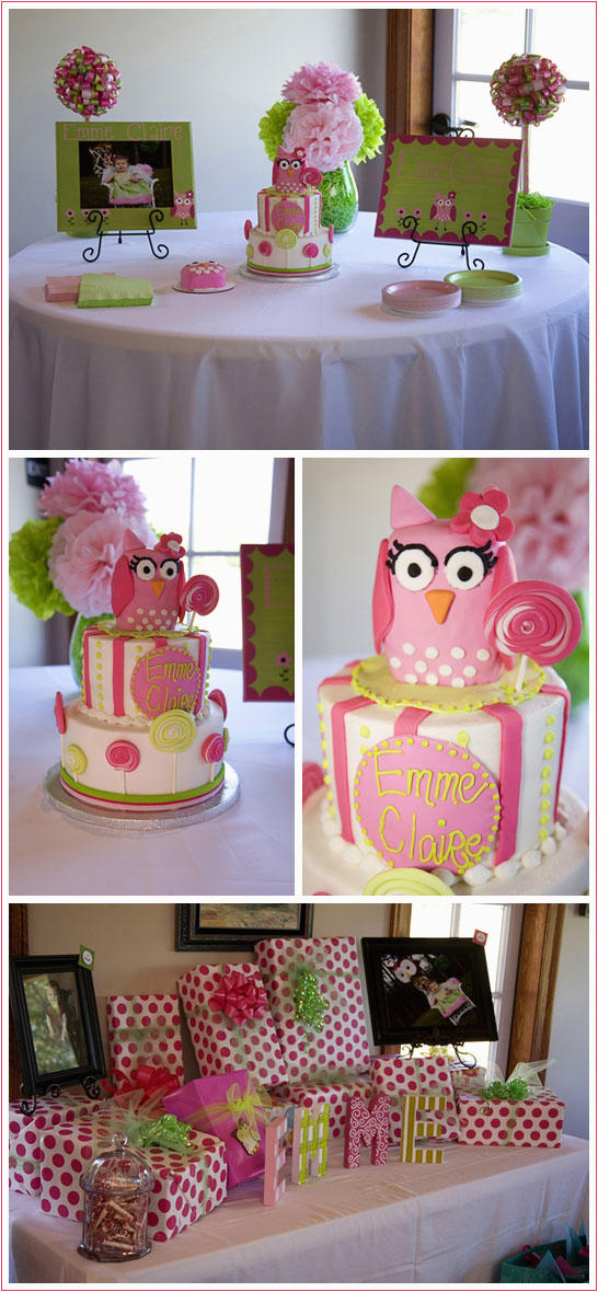 Owl themed Birthday Decorations Real Party Owls Lollipops