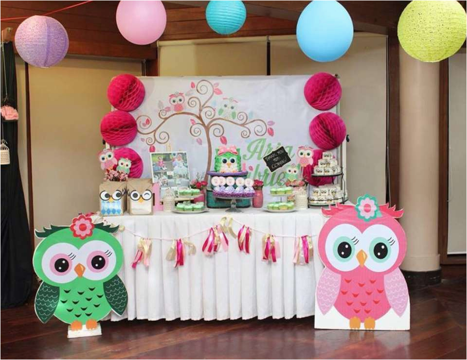 aria gabrielles owl party