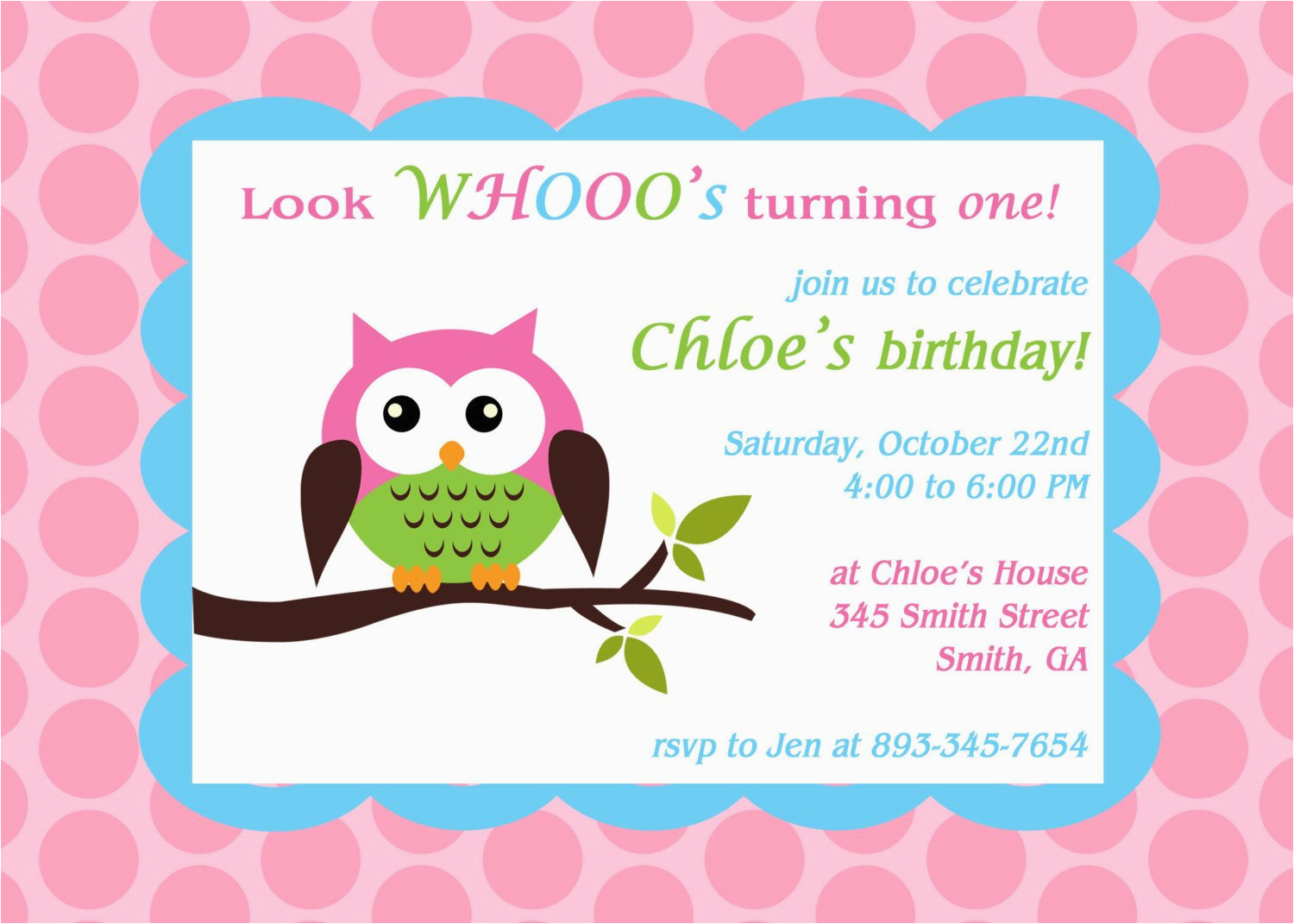 printable owl theme birthday party