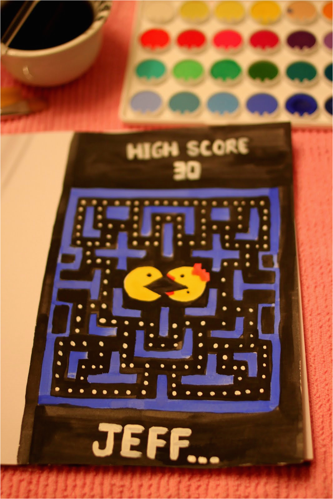 happy 30th jeff handmade pac man
