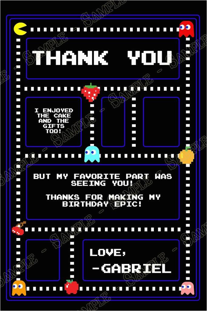 pac man birthday party invitation custom ref sdip4p