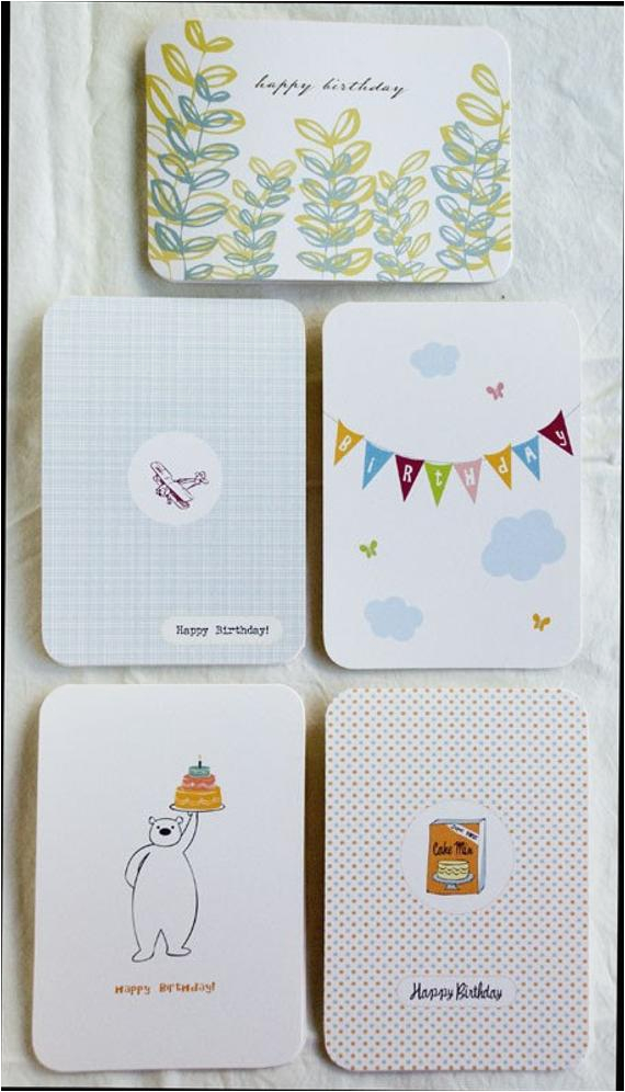 assorted birthday cards pack of 5