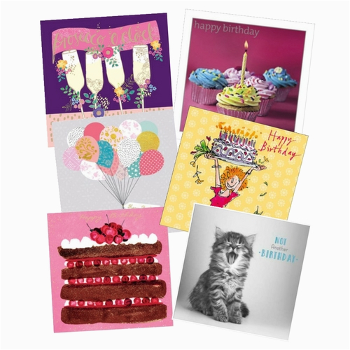 birthday card pack for her 6 cards per pack 1549 p