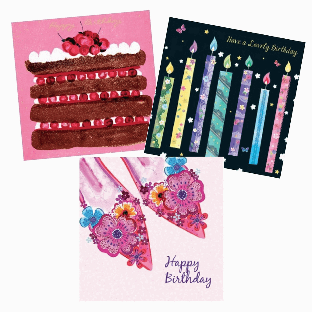birthday cards for her pack 3 cards per pack 8695 p