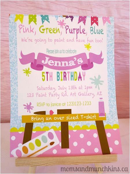 Painting Birthday Party Invitation Wording Art Ideas
