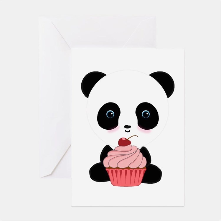 panda bear greeting cards