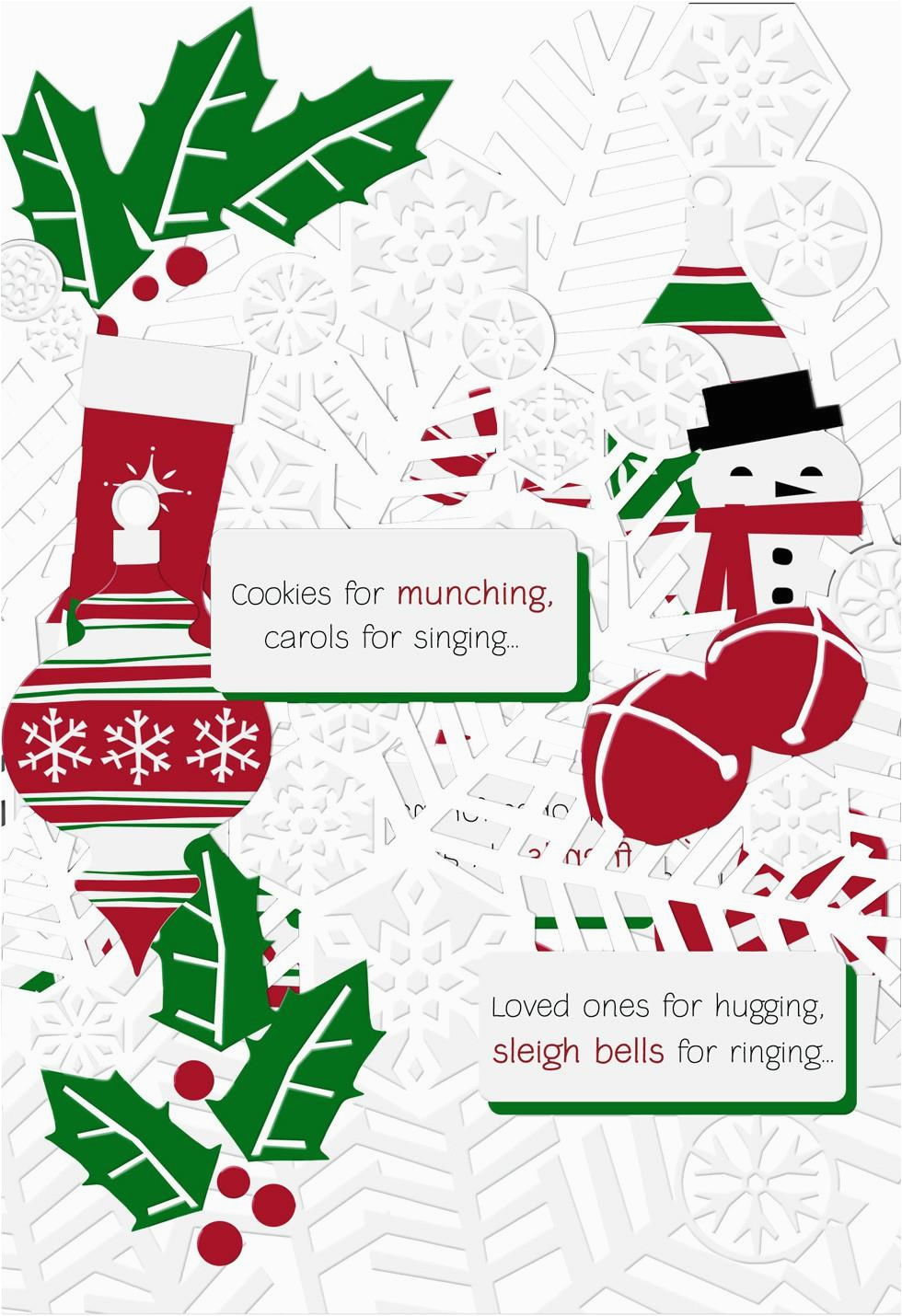 paper ornaments christmas card greeting cards hallmark