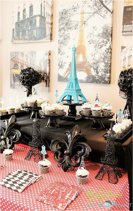 Paris Birthday Theme Decorations French Parisian Party Ideas For A