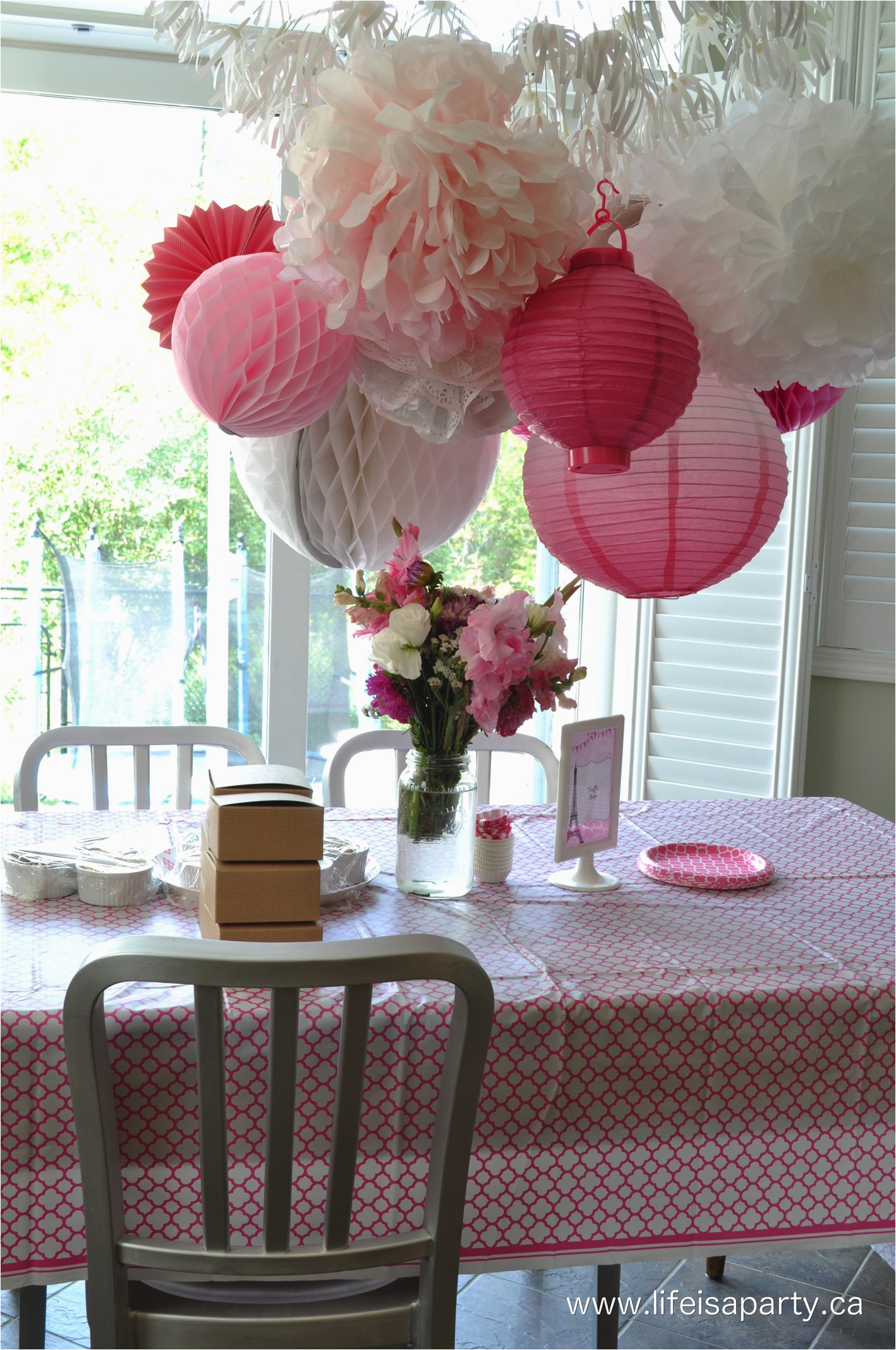 Paris themed Birthday Decorations Paris Birthday Party Part One Party Activities and