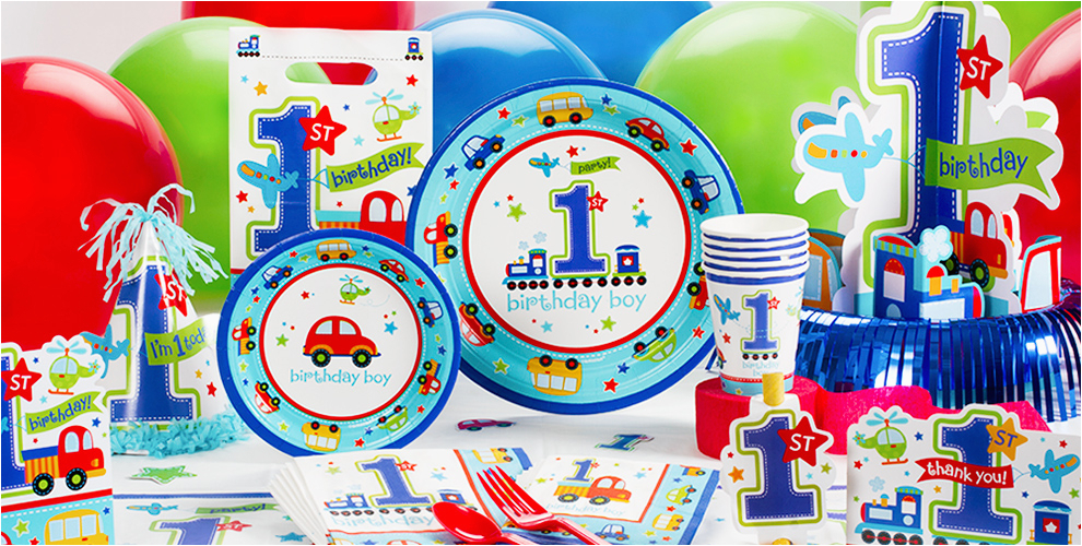 Party City 1st Birthday Decorations All Aboard Supplies