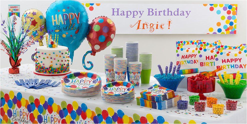 Rainbow Balloon Bash Birthday Decorations Party Supplies Do Navset 189711