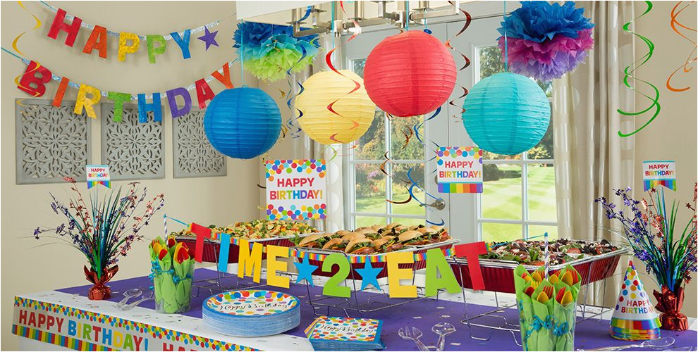 Party City Birthday Decoration Rainbow Supplies