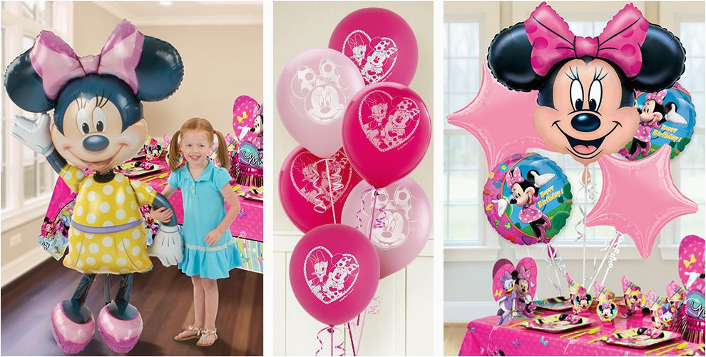Party City Girl Birthday Decorations Minnie Mouse Balloons