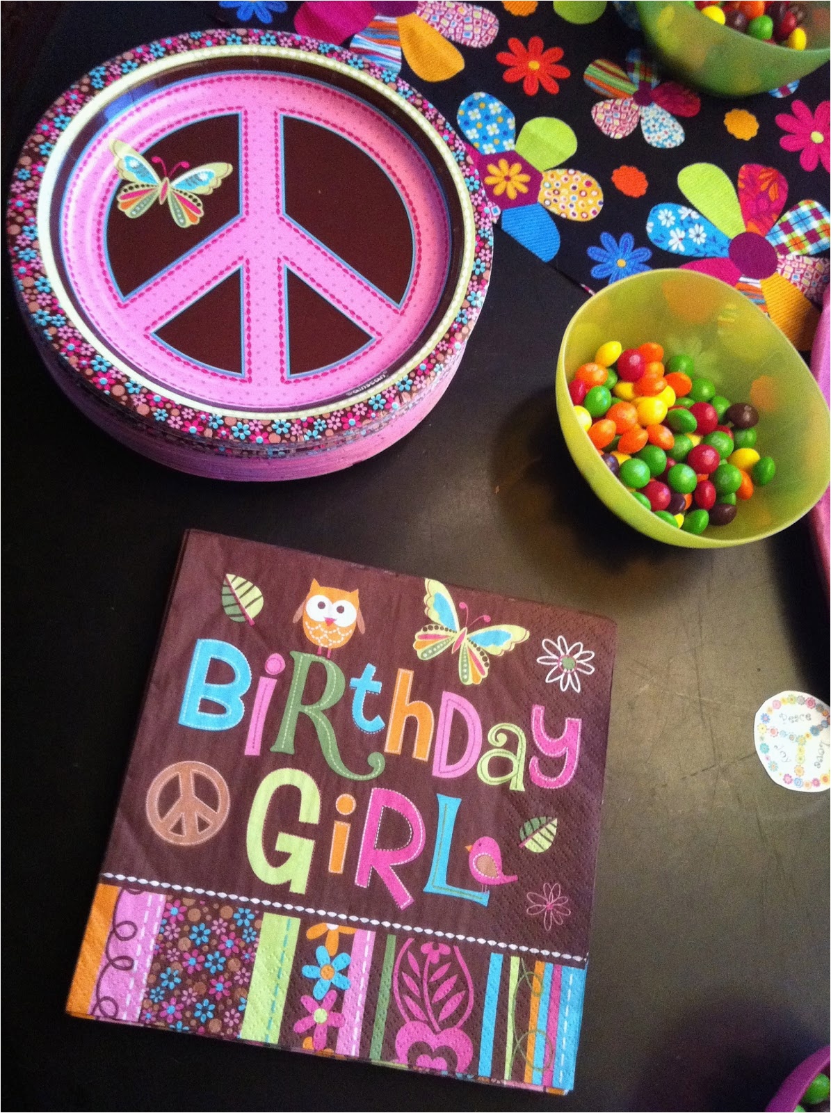 Peace Sign Birthday Decorations Widney Woman Mini Me 39 S Peace Sign Birthday Party