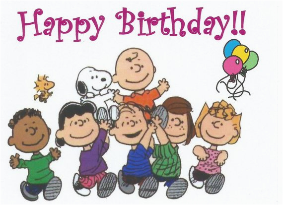 Peanuts Characters Birthday Cards Charlie Brown Snoopy Gang Happy