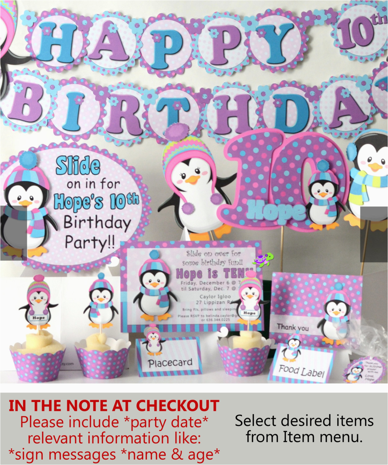 penguin birthday party supplies or