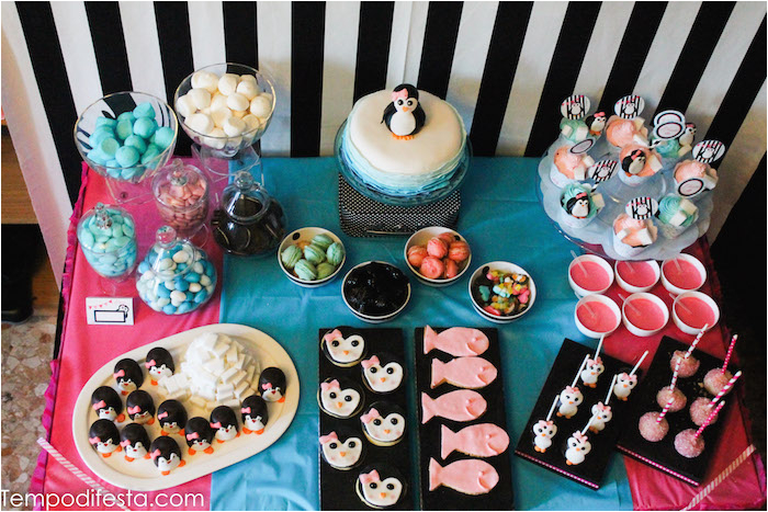 Penguin Decorations for Birthday Party Kara 39 S Party Ideas Penguin themed Birthday Party