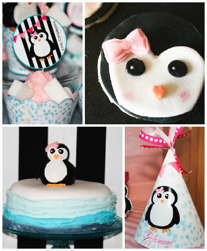 penguin themed birthday party via karas party ideas karaspartyideas com38