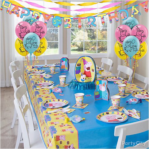 Peppa Pig Birthday Decorations Usa Party Table Idea City