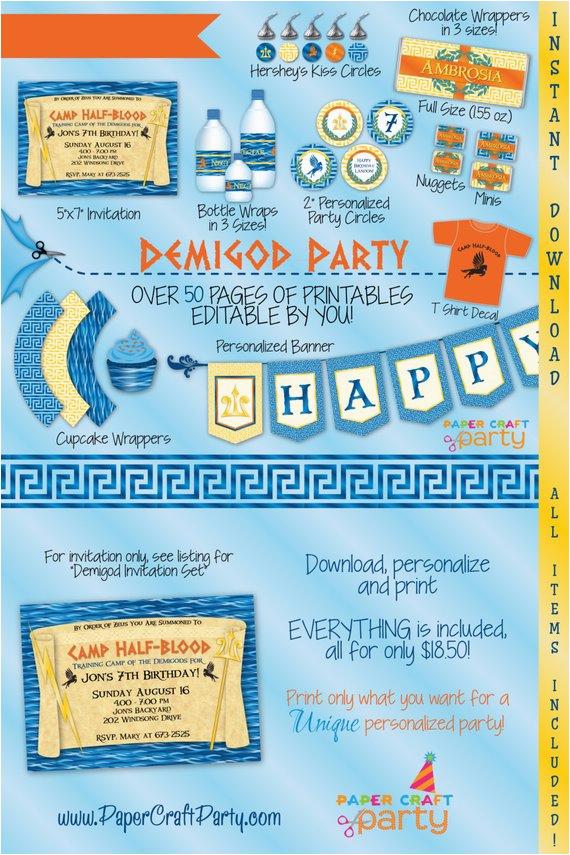demigod percy jackson inspired birthday party