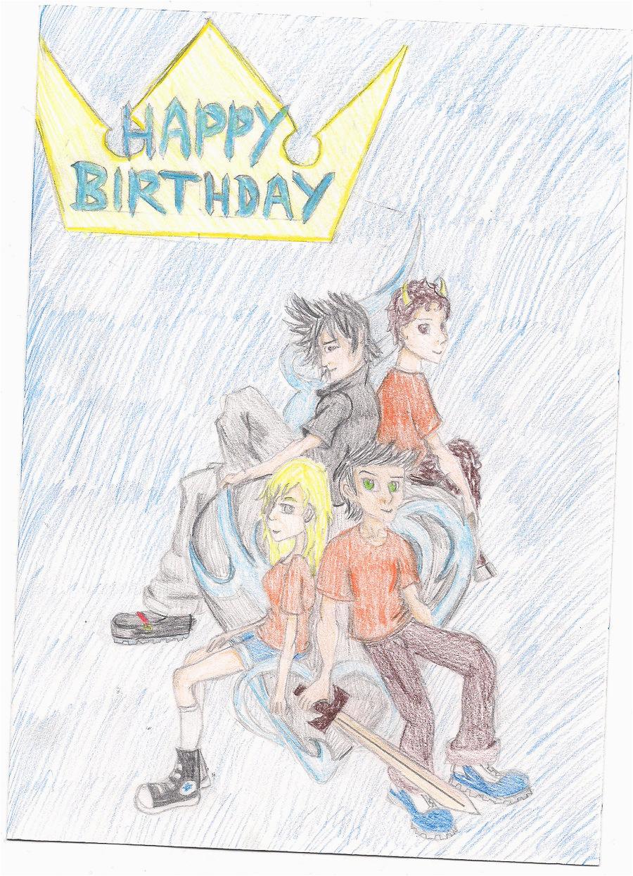 Percy Jackson Birthday Card Percy Jackson Birthday Card by themuzbo On Deviantart