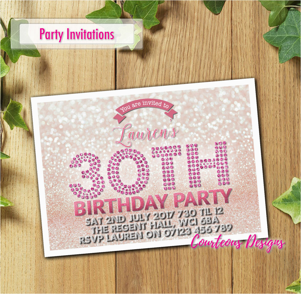 Personalised 18th Birthday Decorations Adult Invitations Party Invites