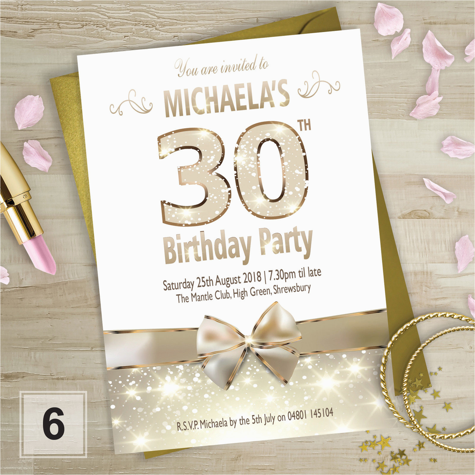 Personalised 18th Birthday Decorations Party Invitations 21st 30th 40th 50th