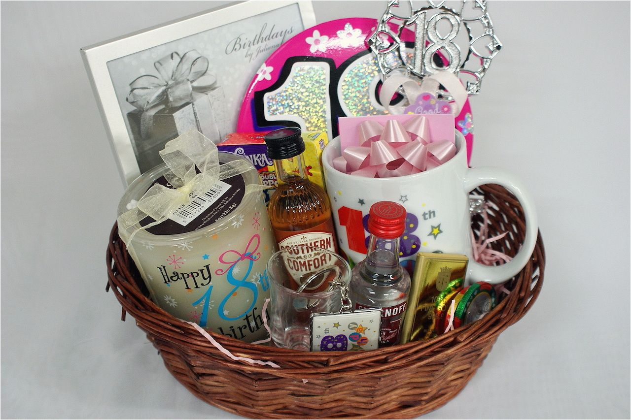 personalised 18th gift basket for girls gifts