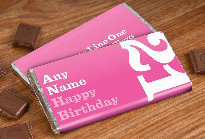 personalised chocolate bar 21st birthday for her
