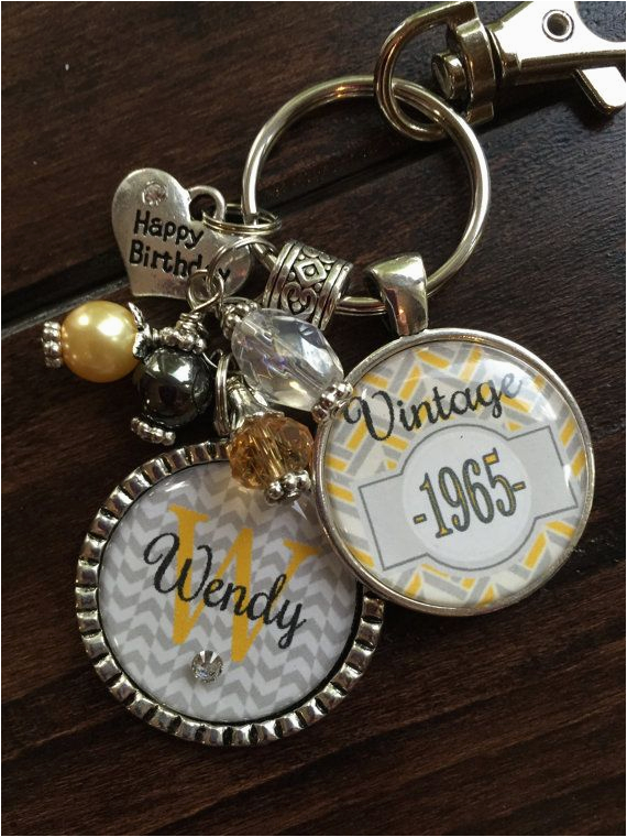 birthday gift for her personalized vintage necklace or