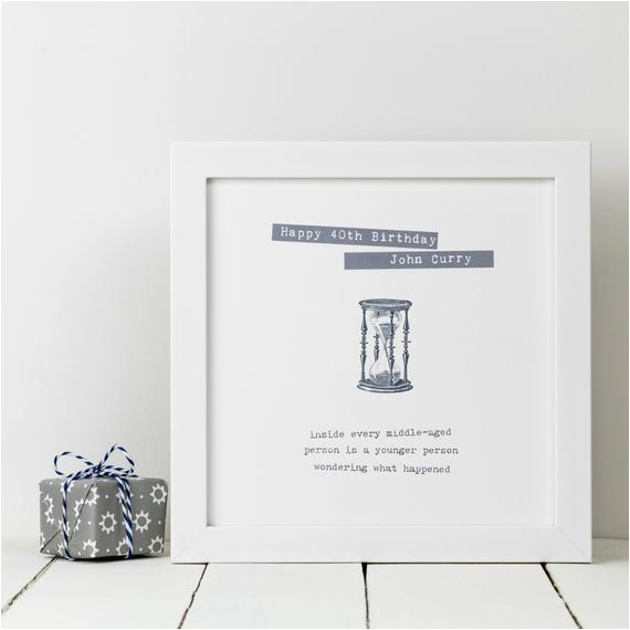 Personalised 40th Birthday Gifts For Her Print Funny Gift