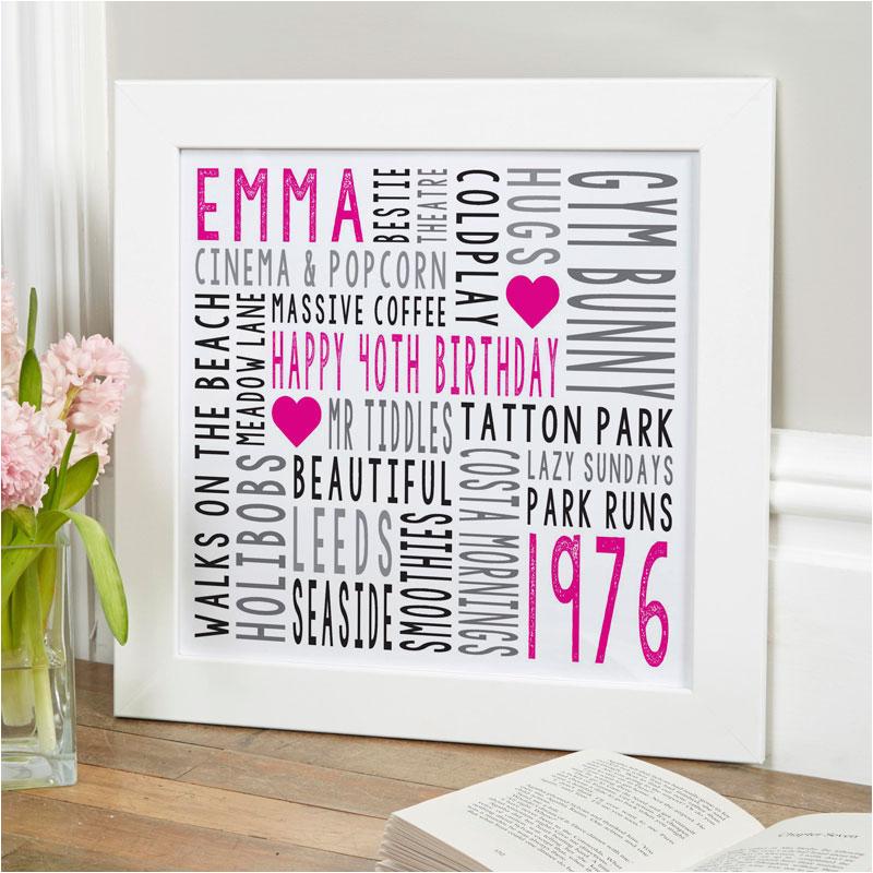 personalised word art frames