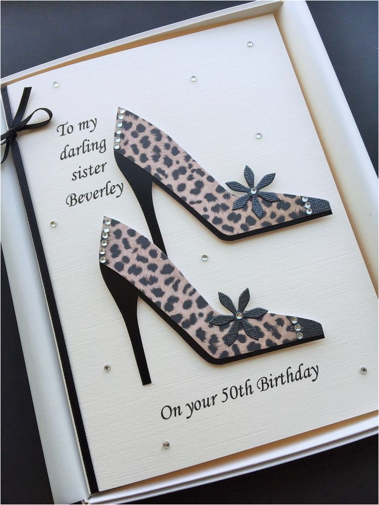 Personalised 50th Birthday Cards For Her Card Women Mum Daughter