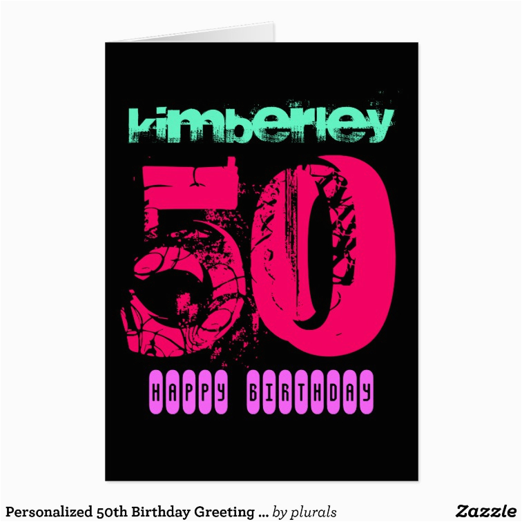 personalized 50th birthday greeting card zazzle