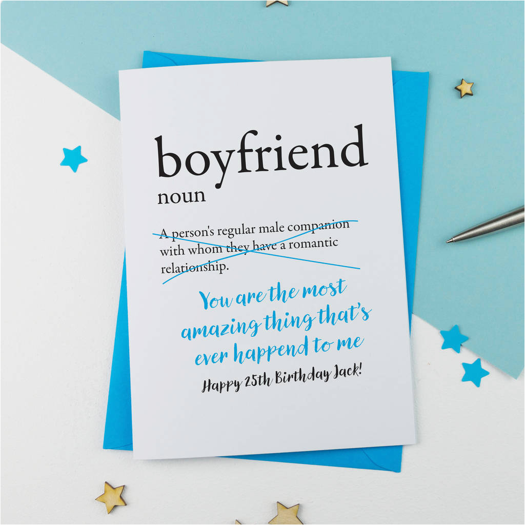 Personalised Birthday Cards for Boyfriend Birthday Card for Boyfriend Personalised by A is for