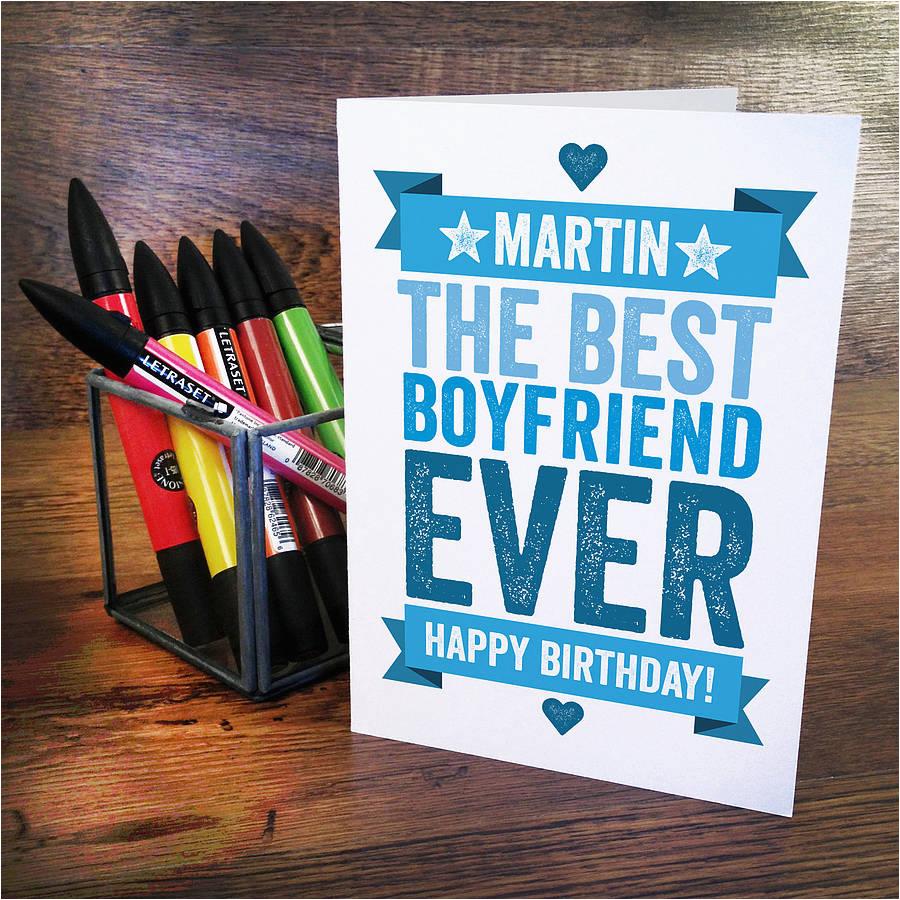 personlised birthday card for boyfriend