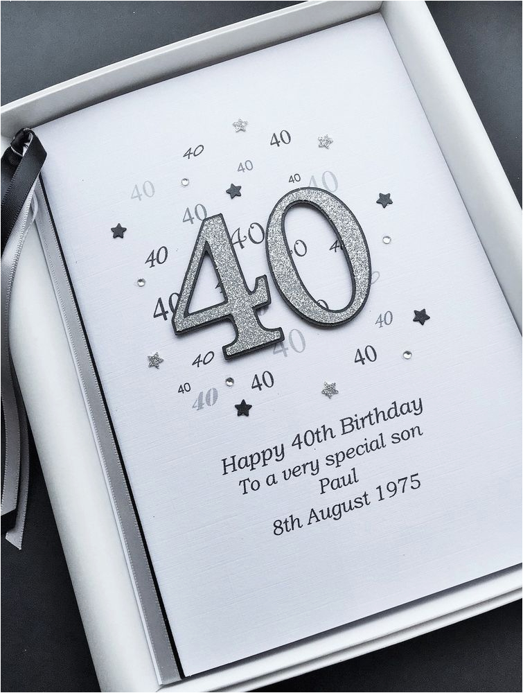 Personalised Birthday Cards For Husband 40th Card Son Dad Brother