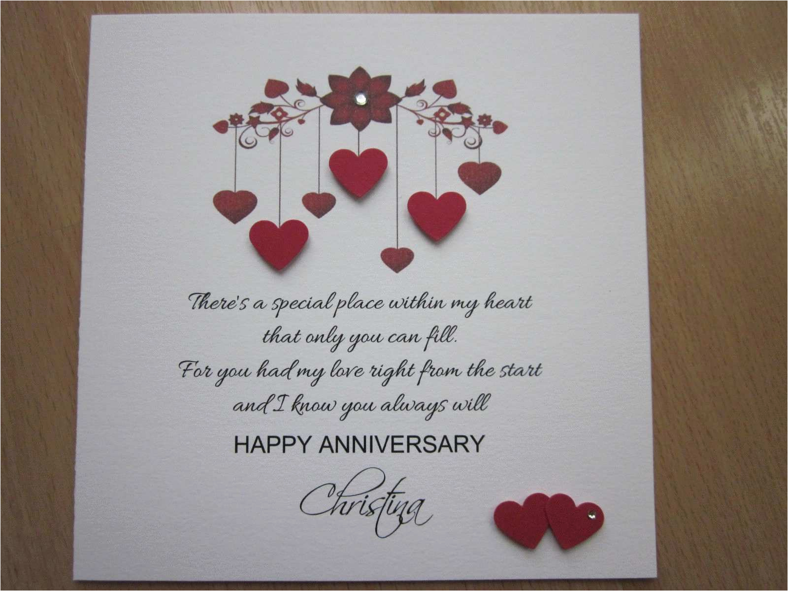 birthday cards for husband new personalised handmade anniversary engagement wedding day card