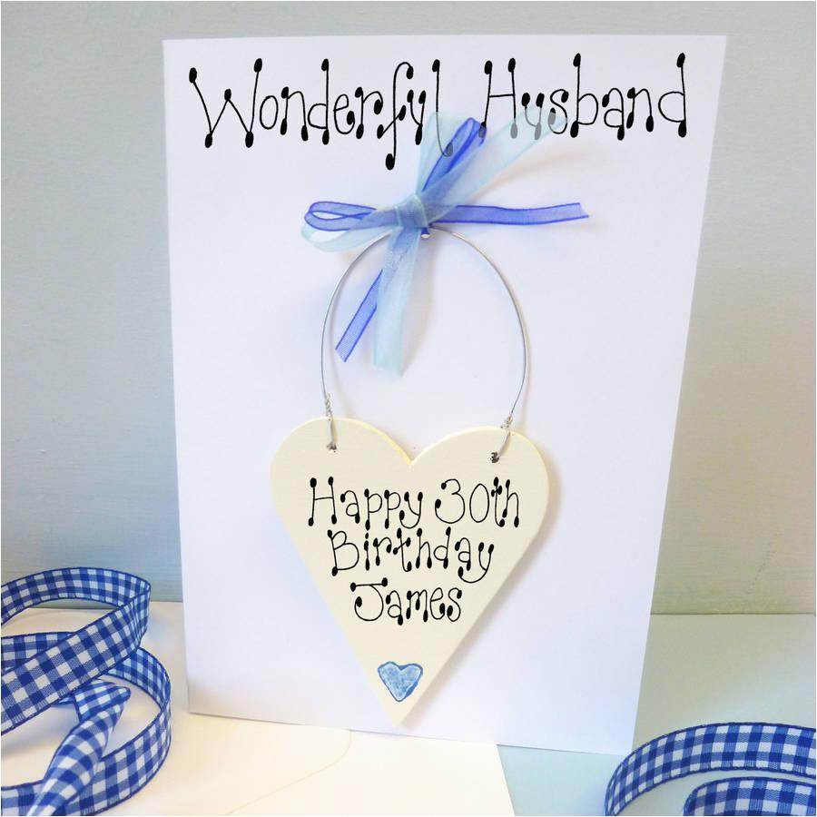 husband s personalised birthday card