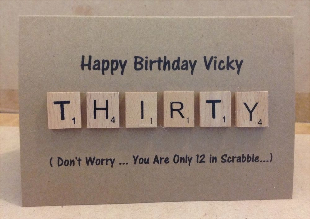personalised 30th 40th 50th 60th birthday scrabble