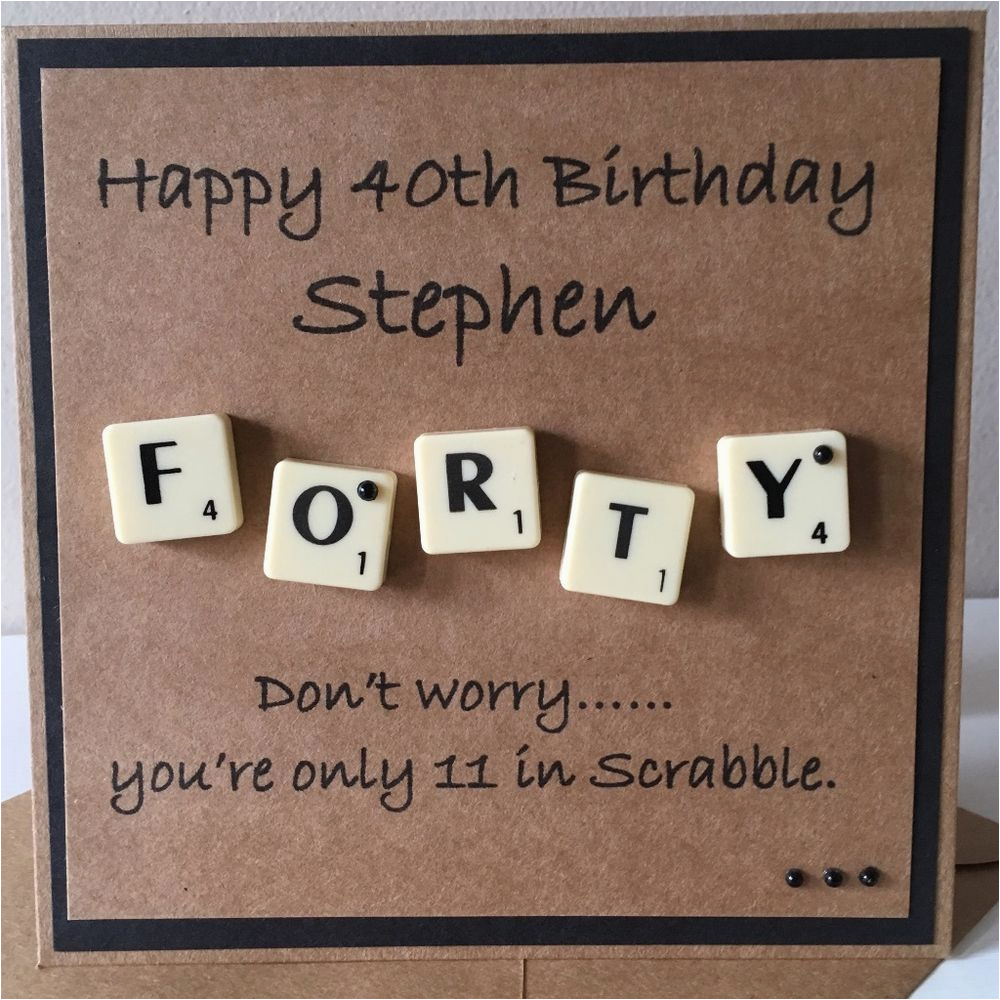 personalised milestone birthday scrabble card 30th 40th