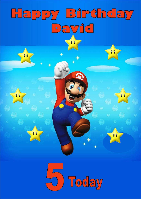 Personalised Super Mario Birthday Card Personalised Super Mario Birthday Card 2