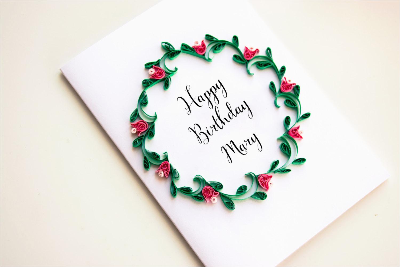 personalized birthday card personalized happy birthday card