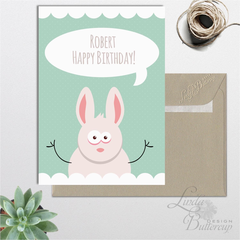 personalized birthday card printable funny birthday card