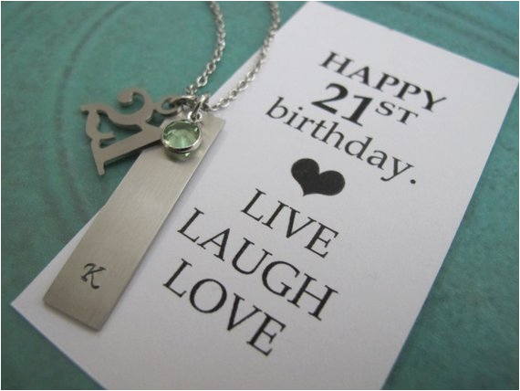 personalized 21st birthday gift for her live laugh love