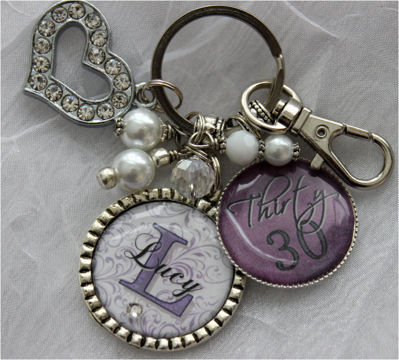 30th birthday gift for her key chain personalized name nana