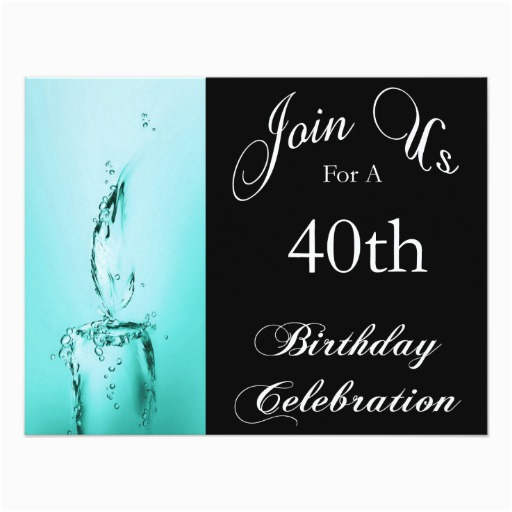 40th Birthday Party Personalized Invitation 161835391953074263